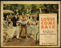 """Lover Come Back (Columbia, 1931). Lobby Cards (4) (11"""" X 14""""). Constance Cummings, Jack Mulhall, and Betty Bro..."""