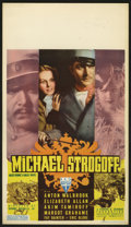 "Movie Posters:Adventure, Michael Strogoff (RKO, 1937). Midget Window Card (8"" X 14""). Basedon the Jules Verne story, the film follows a Russian repr..."