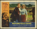 """Movie Posters:Drama, Motorcycle Gang (AIP, 1957). Lobby Card (11"""" X 14""""). Leave it to the kings of the Drive-In movies, AIP, to deliver the quint..."""