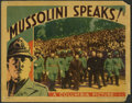 "Movie Posters:Documentary, Mussolini Speaks (Columbia, 1933). Lobby Cards (3) (11"" X 14""). In 1933, before the invasion of Ethiopia, before the Spanish... (Total: 3 Items)"