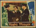 "Movie Posters:Drama, The Night Mayor (Columbia, 1932). Lobby Cards (3) (11"" X 14""). Loosely based on a coinciding controversy in New York Mayor J... (Total: 3 Items)"