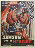 "Movie Posters:Foreign, Samson contre Hercule (Cineproduzioni Associati, 1961). French Grande (46"" X 62""). Samson (Brad Harris) is arrested and put ..."