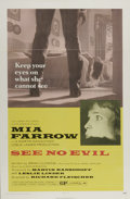 """Movie Posters:Thriller, See No Evil (Columbia, 1971). One Sheet (27"""" X 41""""). Mia Farrow plays a blind woman who returns to her uncle's farm, and ver..."""