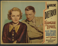 "Shanghai Express (Paramount, 1932). Lobby Card (11"" X 14""). ""It took more than one man to change my name..."