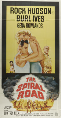 """The Spiral Road (Universal, 1962). Three Sheet (41"""" X 81""""). Rock Hudson is a doctor who comes with his wife Ge..."""