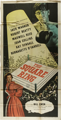 "The Square Ring (Republic, 1953). Three Sheet (41"" X 81""). Jack Warner, Robert Beatty, and Bill Owen star in t..."