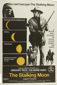 "The Stalking Moon (National General, 1968). Australian One Sheet (27"" X 40""). Army scout Gregory Peck allows t..."