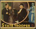 "Movie Posters:Crime, State Trooper (Columbia, 1933). Lobby Card (11"" X 14""). Regis Toomey stars in this crime drama. This lobby card has pinholes..."