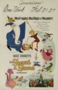 "Movie Posters:Action, The Sword in the Stone (Buena Vista, 1963). Window Card (14"" X22""). Sebastian Cabot, Karl Swenson, and Junius Matthews lend..."