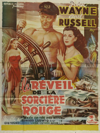 """Wake of the Red Witch (Republic, 1949). French Poster (39"""" X 52""""). John Wayne plays a sea captain involved in..."""