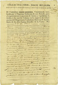 Autographs:Statesmen, [Stephen Austin] Partly Printed Document Signed....