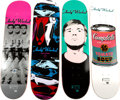 Post-War & Contemporary, Alien Workshop X The Andy Warhol Foundation. Set of Four SkateDecks, 2010. Silkscreen on skate deck. 8 x 31-3/4 inches ...(Total: 4 Items)