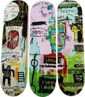 Post-War & Contemporary:Contemporary, After Jean-Michel Basquiat (1960-1988). Skateboard Triptych inItalian, 2014. 32 x 8 inches (81.3 x 20.3 cm) (each). Scr...(Total: 3 Items)