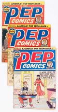 Golden Age (1938-1955):Superhero, Pep Comics Group of 4 (Archie, 1949-51) Condition: Average VG.... (Total: 4 Comic Books)