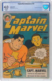 Captain Marvel Adventures #29 (Fawcett Publications, 1943) CBCS VG 4.0 Off-white to white pages