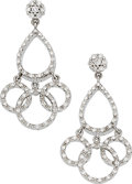 Estate Jewelry:Earrings, Diamond, White Gold Earrings, Roberto Coin. ...