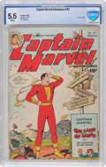 Golden Age (1938-1955):Superhero, Captain Marvel Adventures #92 (Fawcett Publications, 1949) CBCS FN- 5.5 White pages....