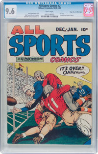 All Sports Comics #2 Mile High Pedigree (Hillman Publications, 1948) CGC NM+ 9.6 White pages