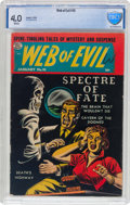 Golden Age (1938-1955):Horror, Web of Evil #10 (Quality, 1954) CBCS VG 4.0 White pages....