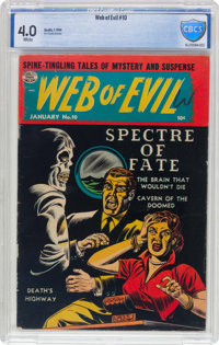 Web of Evil #10 (Quality, 1954) CBCS VG 4.0 White pages
