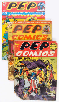 Pep Comics Group of 11 (MLJ/Archie, 1940-46) Condition: Average FR.... (Total: 11 Comic Books)