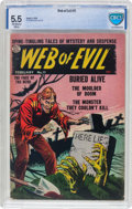 Golden Age (1938-1955):Horror, Web of Evil #11 (Quality, 1954) CBCS FN- 5.5 Off-white to whitepages....