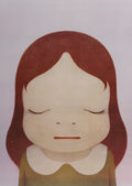 Prints:Contemporary, Yoshitomo Nara (b. 1959). Cosmic Girl (Eyes Open, Eyes Shut) (two works), 2008. Offset lithographs in colors. 26-1/2... (Total: 2 Items)