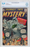 Silver Age (1956-1969):Horror, Journey Into Mystery #77 (Marvel, 1962) CBCS VG/FN 5.0 Off-whitepages....