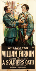 "Movie Posters:Drama, A Soldier's Oath (Fox, R-1918). Three Sheet (41"" X 81"").. ..."
