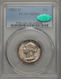 Washington Quarters, 1932-D 25C MS64+ PCGS. CAC....