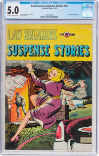 Lawbreakers Suspense Stories #10 (#1) (Capitol Stories/Charlton, 1953) CGC VG/FN 5.0 Off-white to white pages