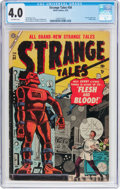 Golden Age (1938-1955):Horror, Strange Tales #34 (Atlas, 1955) CGC VG 4.0 Off-white pages....