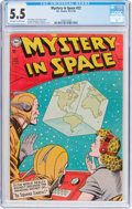Golden Age (1938-1955):Science Fiction, Mystery in Space #22 (DC, 1954) CGC FN- 5.5 Off-white to whitepages....