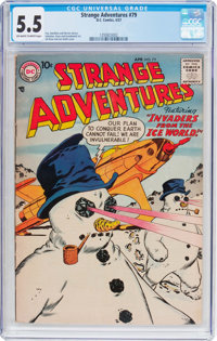 Strange Adventures #79 (DC, 1957) CGC FN- 5.5 Off-white to white pages