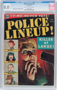 Police Line-Up #3 (Avon, 1952) CGC VF 8.0 Off-white to white pages