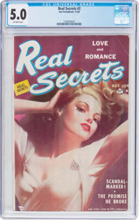 Real Secrets #2 (Ace Periodicals, 1949) CGC VG/FN 5.0 Off-white pages