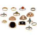 Estate Jewelry:Rings, Diamond, Multi-Stone, Gold, Yellow Metal Rings . ... (Total: 15Items)