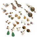 Estate Jewelry:Earrings, Diamond, Multi-Stone, Cultured Pearl, Enamel, Gold Earrings. ...(Total: 15 Items)
