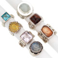 Estate Jewelry:Rings, Multi-Stone, Sterling Silver Rings, Barry Brinker. ... (Total: 7Items)