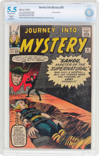 Journey Into Mystery #91 (Marvel, 1963) CBCS Restored FN- 5.5 (Slight) Off-white to white pages