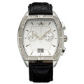 Estate Jewelry:Watches, Armadani Gentleman's Diamond, Stainless Steel Chronograph Watch....
