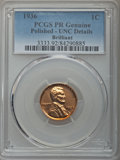 Proof Sets, 1936 1C Proof Set, PR60-PR62 PCGS.... (Total: 5 coins)