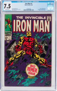Iron Man #1 (Marvel, 1968) CGC VF- 7.5 Off-white pages