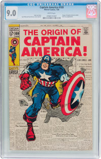 Captain America #109 (Marvel, 1969) CGC VF/NM 9.0 White pages