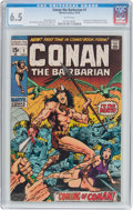 Bronze Age (1970-1979):Adventure, Conan the Barbarian #1 (Marvel, 1970) CGC FN+ 6.5 White pages....