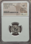 Ancients:Roman Imperial, Ancients: Hadrian (AD 117-138). AR denarius. NGC XF, Fine Style, scratches....