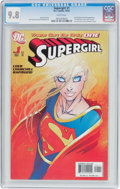 Modern Age (1980-Present):Superhero, Supergirl #1 Michael Turner Cover Variant (DC, 2005) CGC NM/MT 9.8White pages....