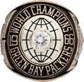 Football Collectibles:Others, 1967 Vince Lombardi Super Bowl I Green Bay Packers Salesman's Sample Ring. ...