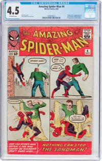 The Amazing Spider-Man #4 (Marvel, 1963) CGC VG+ 4.5 Off-white pages