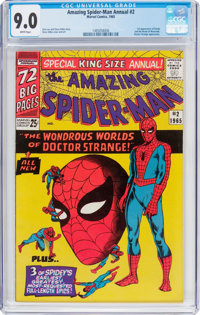 The Amazing Spider-Man Annual #2 (Marvel, 1965) CGC VF/NM 9.0 White pages